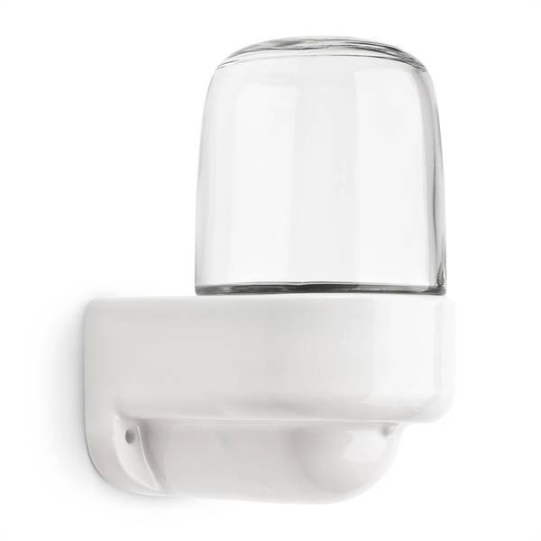 Wandlamp haaks met helder glas (sauna)