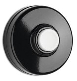 Deurbel drukker bakeliet - witte knop