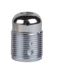 Fitting metaal chroom E27 Arditi met buitendraad