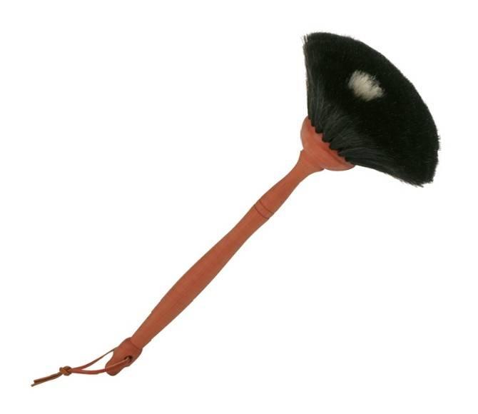 Redecker Redecker Stoffer rond geit zwart perenhout - 34cm