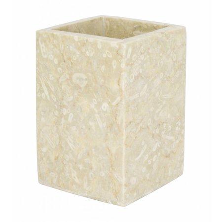 Indomarmer Marmor Zahnbürstenbecher Savoe