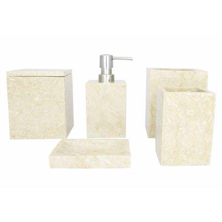 Indomarmer 5-piece Marble Bath Set Savoe