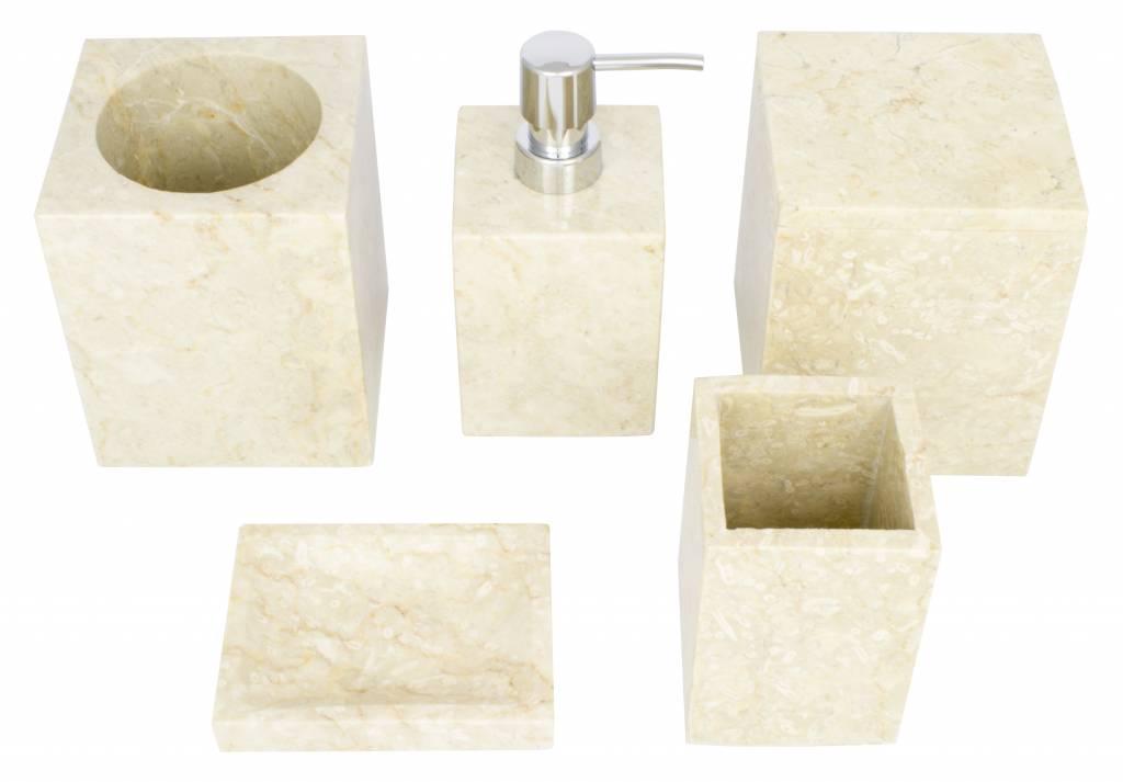 Indomarmer 5-Teilige Marmor Badeset Savoe