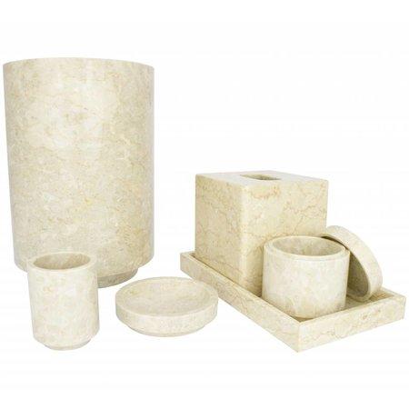 Indomarmer 6-piece Marble bath set Banda
