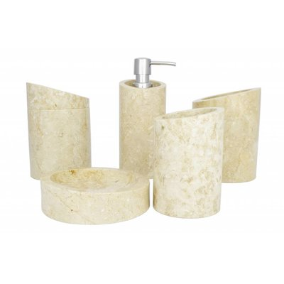 Indomarmer 5-Delige Marmeren Badset Rangga