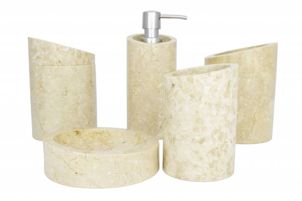 Indomarmer 5-piece Marble bath set Rangga