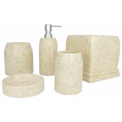 Indomarmer 5-piece marble bath set Madewi