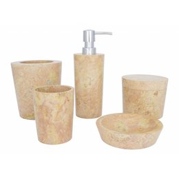 Indomarmer 5-Piece Marble Bath Set Java