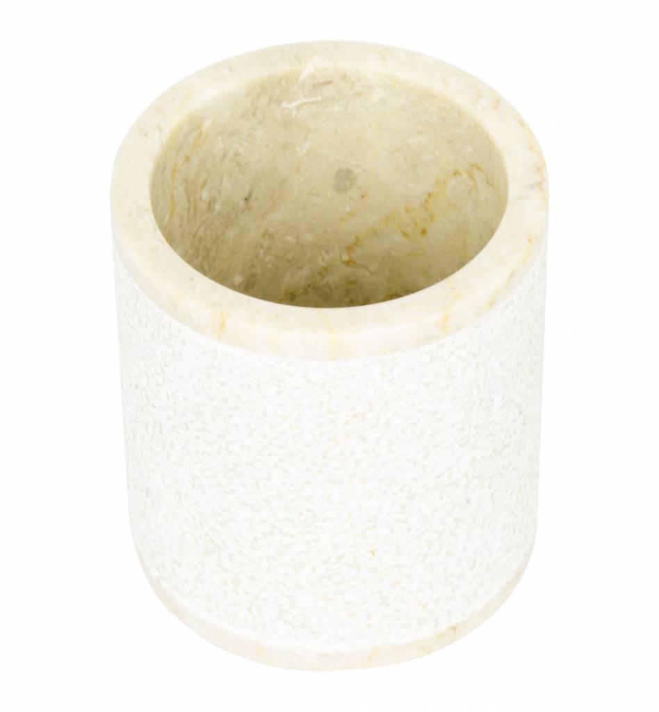 Indomarmer Marmor Zahnbürstenbecher Soemba