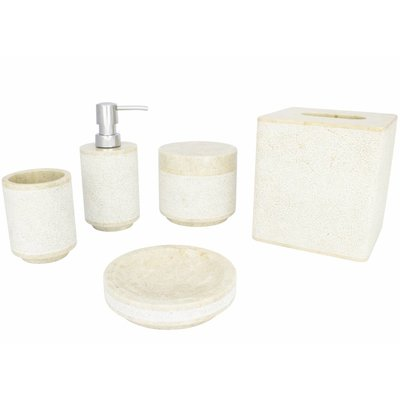 Indomarmer 5-piece Marble bath set Soemba