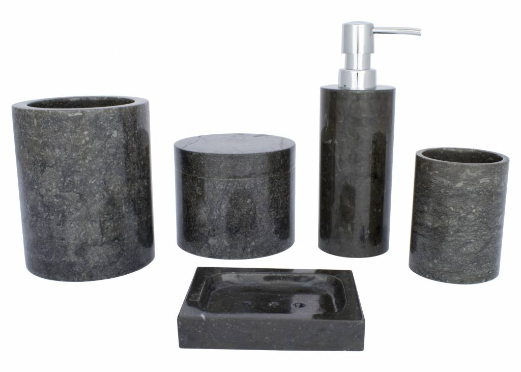Indomarmer 5-piece Marble bath set Sumatra