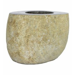 River stone Toilet brush holder Flores