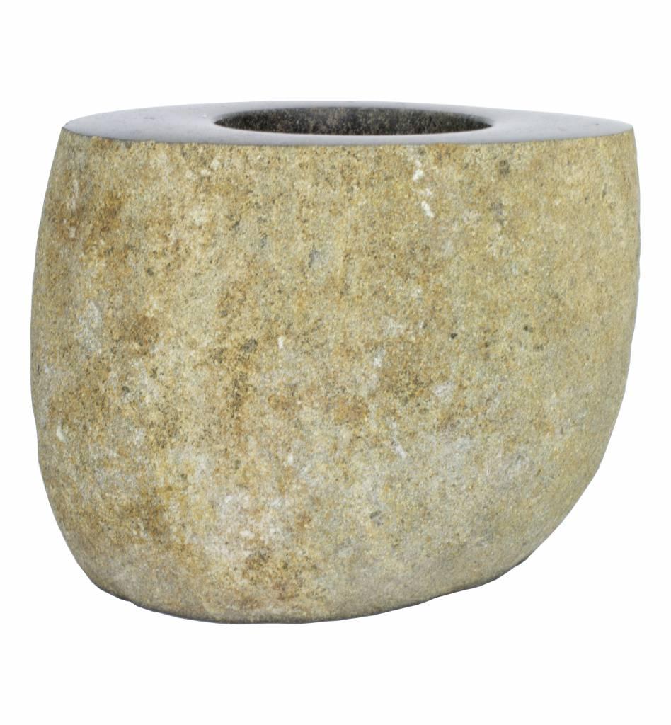 Indomarmer Toilettenbürstenhalter Flores Flussstein