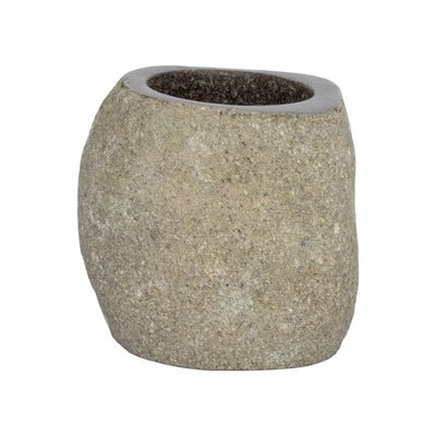 Indomarmer River stone Toothbrush Cup Flores