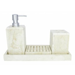Indomarmer 4-Piece Marble Bath Set Bali