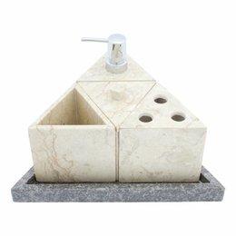 Indomarmer 5-Teilige Marmor Badeset Batu