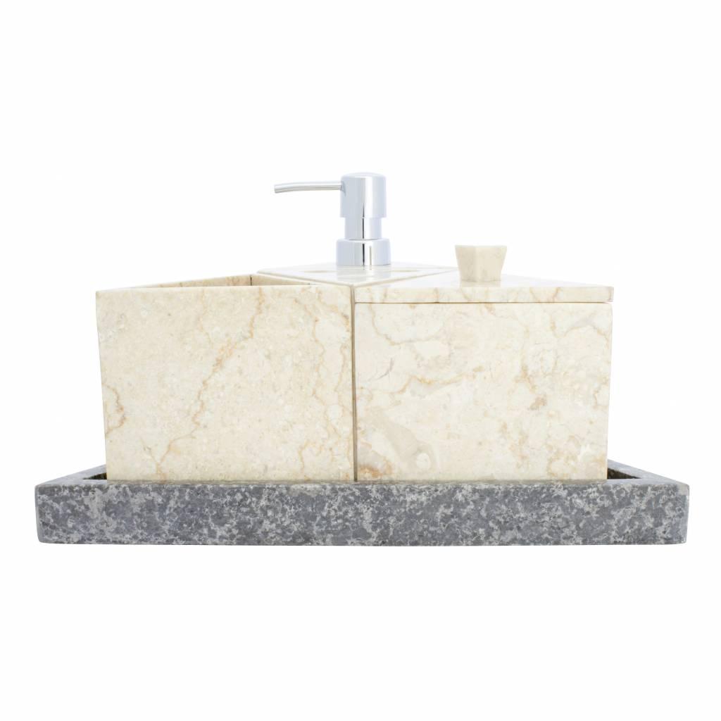 Indomarmer 5-piece Marble bath set Batu