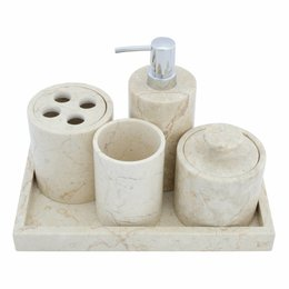 Indomarmer 5-piece Marble bath set Madiun