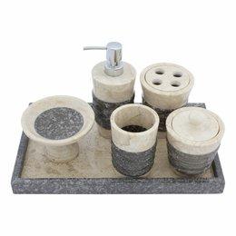 6-Piece Marble Bath Set Imelda