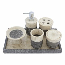 Indomarmer 6-Piece Marble Bath Set Imelda