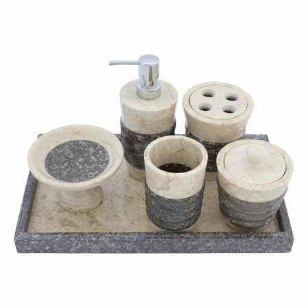 Indomarmer 6-Teilige Marmor Badeset Imelda