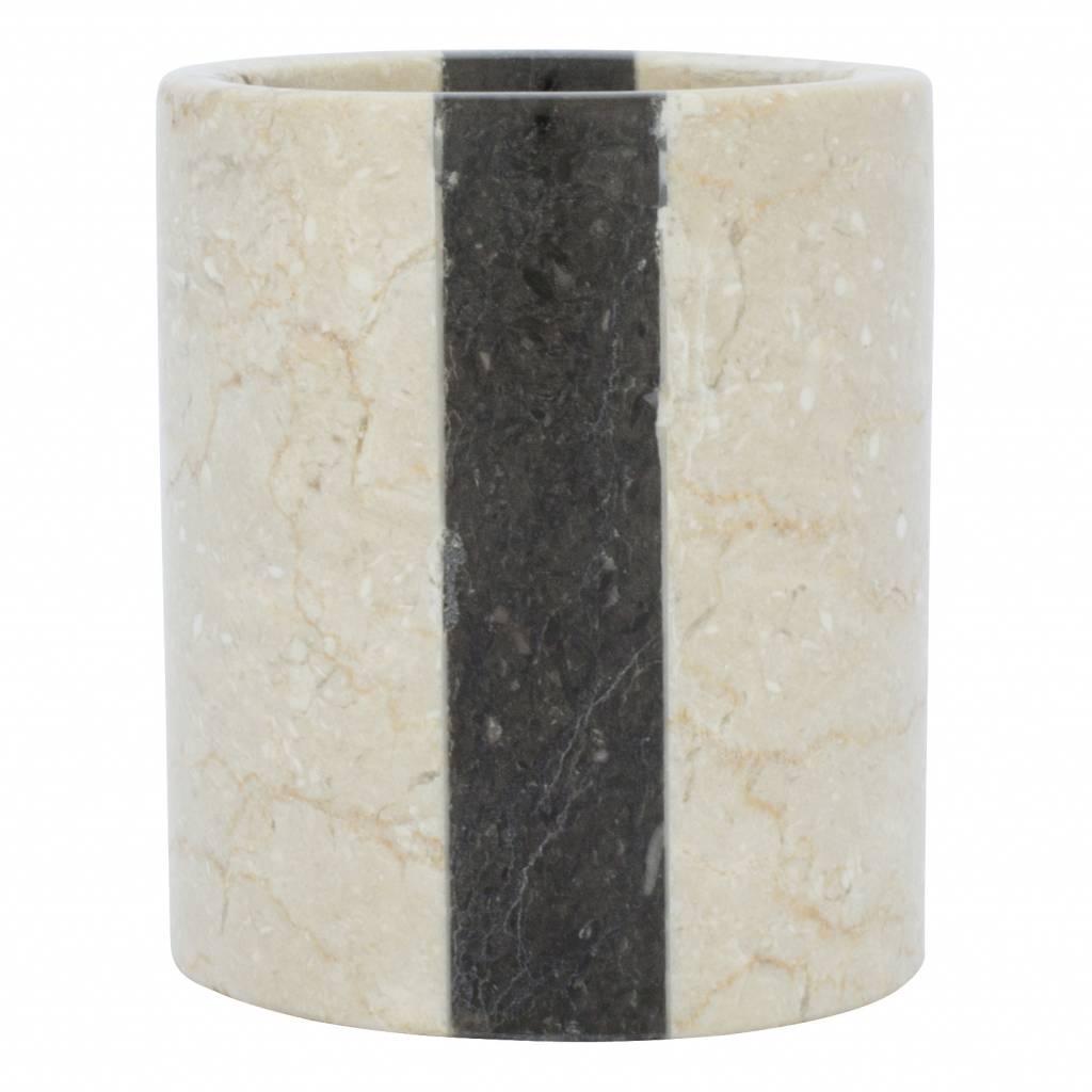 Indomarmer Marmor Zahnbürstenbecher Aguna