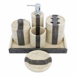 6-piece Marble bath set Aguna