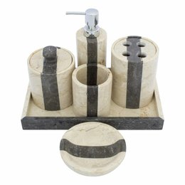 Indomarmer 6-piece Marble bath set Aguna
