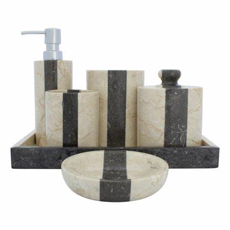 6-Teilige Marmor Badeset Aguna