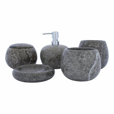 Indomarmer 5-Piece Marble bath set Lya
