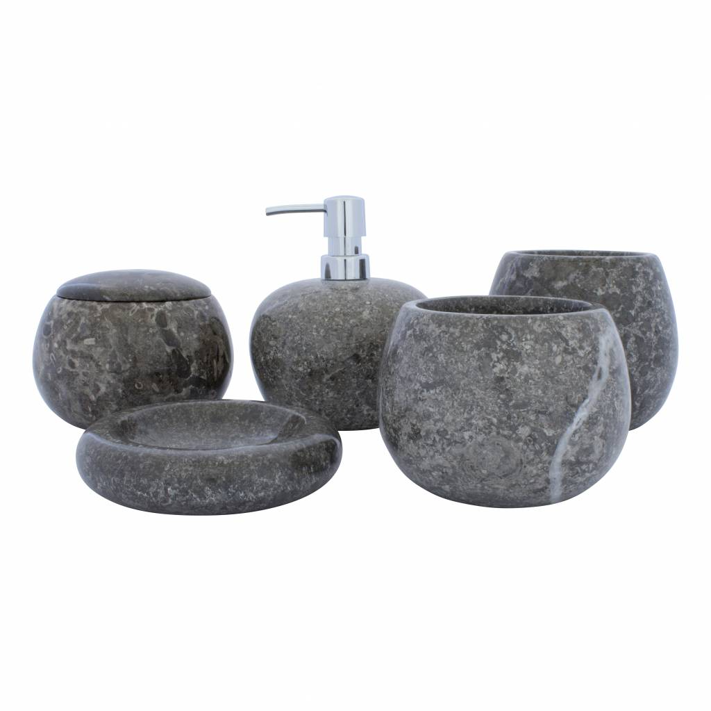 5 Piece Marble Bath Set Lya Indomarmer