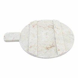 Indomarmer Käseplatte aus Marmor rund 30 cm