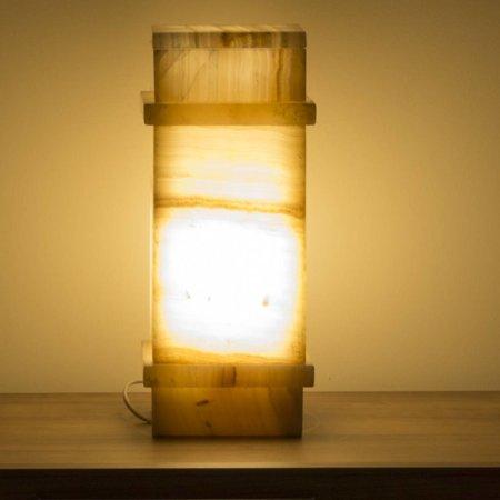 Square Lampe Aus Onyx Höhe 40 cm