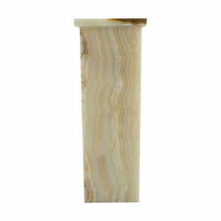 Indomarmer Square Lamp Onyx Height 55 cm