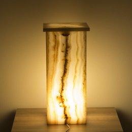 Indomarmer Square Lamp Onyx Hoogte 50 cm