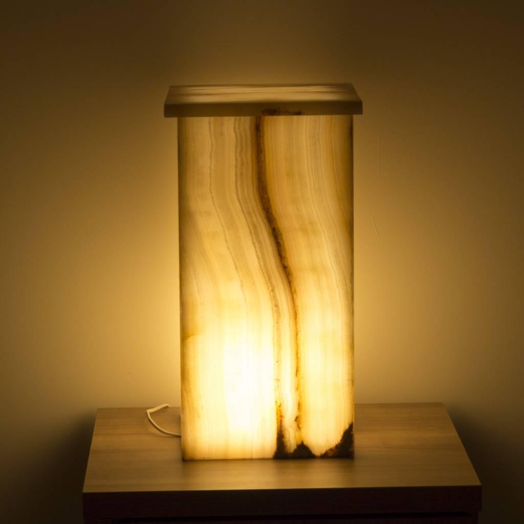 Indomarmer Square Lampe Aus Onyx Höhe 52 cm