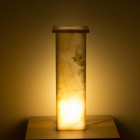Indomarmer Square Lampe Aus Onyx Höhe 62 cm