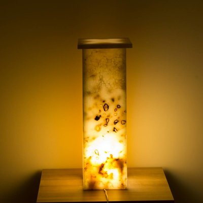 Square Lamp Onyx Hoogte 62 cm