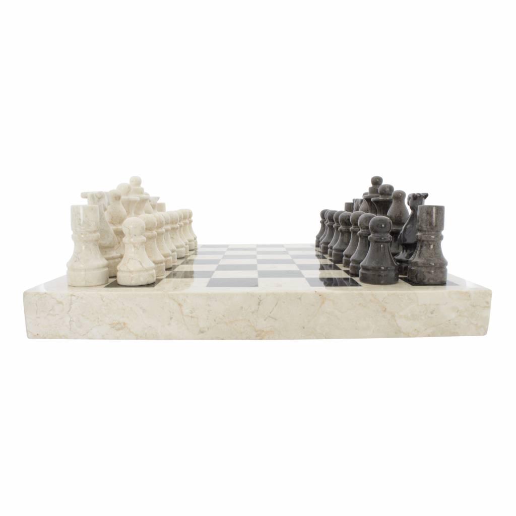 Indomarmer Marble Chessboard 45 x 45 cm Model 1