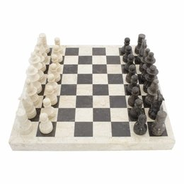 Schachbrett aus Marmor 45x45cm Modell 1