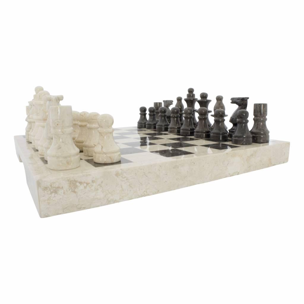 Indomarmer Schachbrett aus Marmor 40x40cm Modell 1