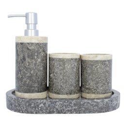 4-Teilige Marmor Badeset Medang
