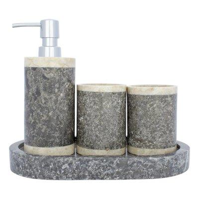 Indomarmer 4-Teilige Marmor Badeset Medang