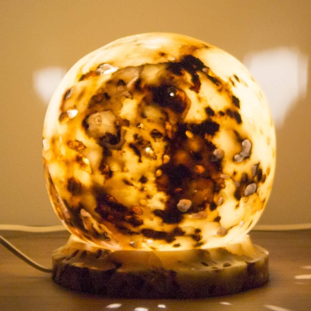 Ball Lampe Aus Onyx Indomarmer