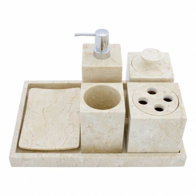 Indomarmer 6-piece marble bath set Vania