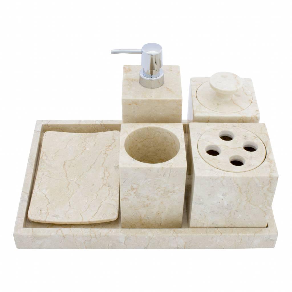 Indomarmer 6-Teilige Marmor Badeset Vania
