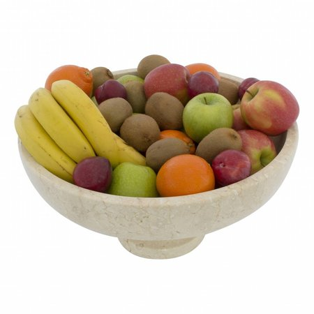 Indomarmer Cream Marble Fruit Bowl with foot Ø 40cm