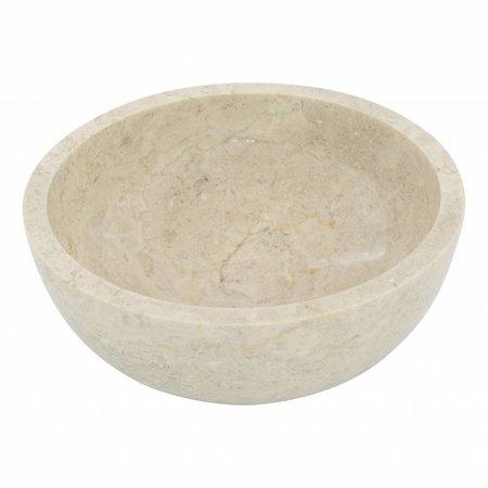 Indomarmer Fruitschaal van Crème Marmer 25cm