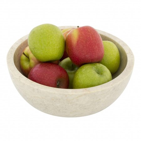 Cream Marble Fruit bowl Ø 25cm