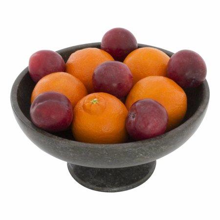 Indomarmer Fruitschaal met voet van Zwart Marmer Klein